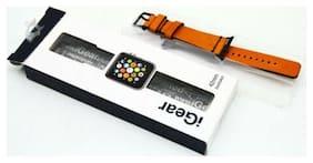 iGearUSA - Leather Watch Strap for Apple Watch Bronze/Buckskin brown