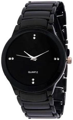 IIK Black Steel Analog Watch