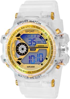 Men Yellow Digital Watch