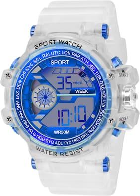 Men Blue Digital Watch