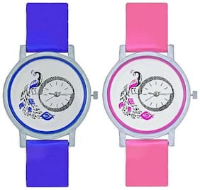 Infinity enterprise stylist designer branded peacock dial analog watch for women
