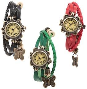 Infinity enterprise classic fancy studded analog watch for women