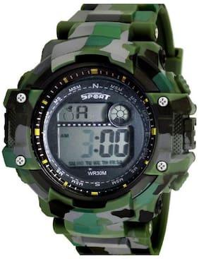 Ismart Green Army Led Digital Mens & Boys Watch(Ismart00024)