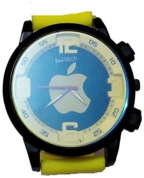 Ismart Yellow Apple Dial Analog Watch For Boys & Girls (Ismart00062)