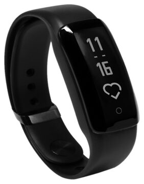 iVooMi FitMe Black Smart Fitness Band with Pollution Tracking, Heart Rate Monitor,Pedometer,Calorie Counter,Sleep Monitor and Notification