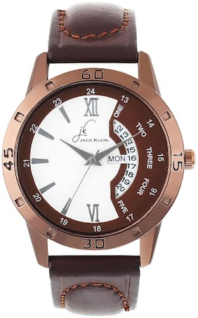 Jack Klein Sporty Brown Elegant Multi Function Day And Date Working Wrist Watch