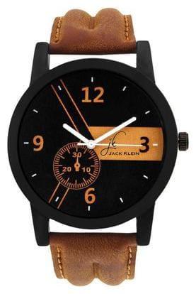 Jack Klein Stylish Brown Strap Elegant Watch For Men