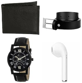 Jack Klein Stylish Analog Watch With Free Accessories For Men (Watch/ Wallet/ Belt And Bluetooth)