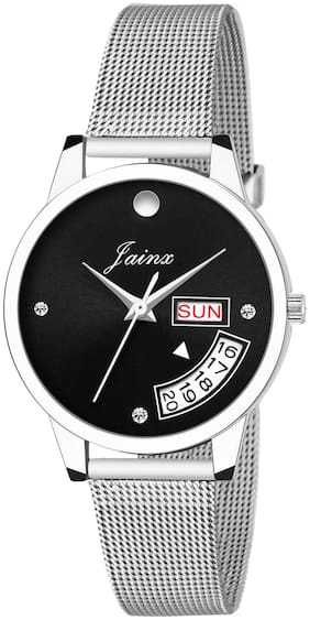 Jainx Day And Date Black Dial Analog Watch For Women & Girls - JW598