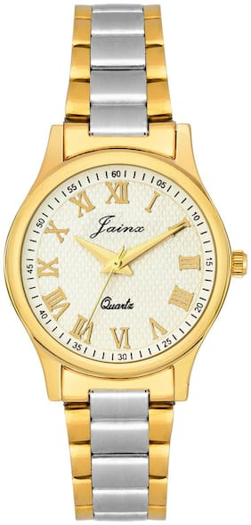 Jainx Premium Golden Analog Watch For Women - JW1201