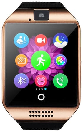 JM New Q18 Colour Black Silver Smart Watche With Sim/SD Card Support