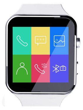 JM New X6 Black Smart Watch with Crue Glass