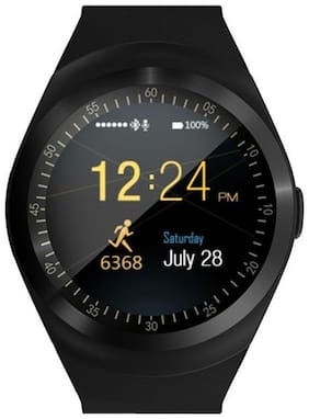 JM New Y1 Black Colour Smart Watch With sim/sd Support