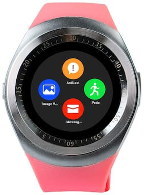 JM New Y1 Pink Colour Smart Watch With sim/sd Support