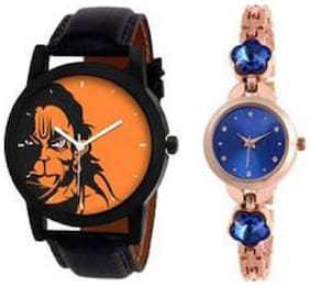 k&u Analog Couple Combo Watch For Men And Women