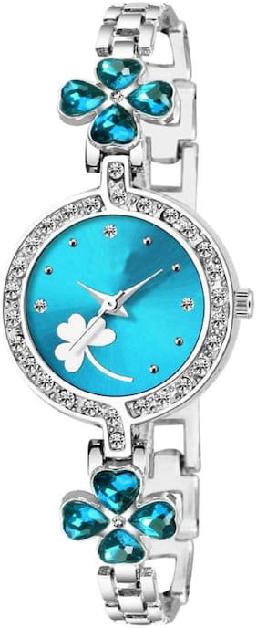 K&U Bangle-944 Blue Dial Elegance New Arrival Watch For Girls Watch