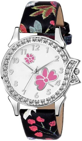 K&U Best Shop Butterfly Best Look Party Wedding Designer Italian Leather Strap Watch