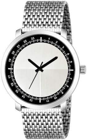 Men Silver Analog Watch