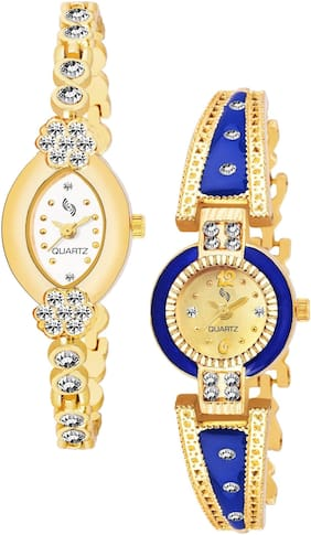 KAJARU BANGLE_912_903 Trendy New Arrival Watch Pack Of 2 For Women & Girls