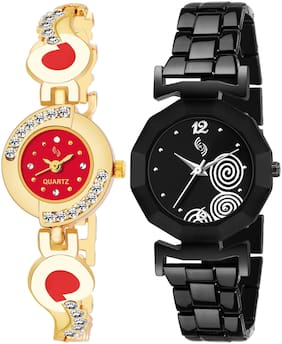 KAJARU BANGLE_905_927 New Arrival Pack Of 2 Watch For Girls & Women