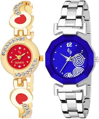 KAJARU BANGLE_905_929 New Arrival Pack Of 2 Watch For Girls & Women