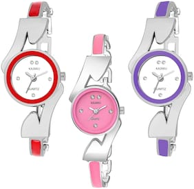 KAJARU BANGLE_1135 NEW ARRIVAL ATTRACTIVE PACK OF 3 WATCH FOR WOMEN