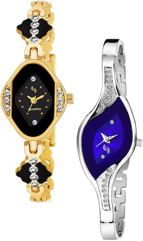 KAJARU BANGLE_909_922 Trendy New Arrival Watch Pack Of 2 For Women & Girls