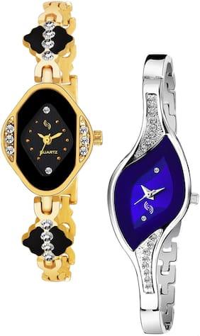 KAJARU BANGLE_909_922 Trendy New Arrival Watch Pack Of 2 For Women & Girls