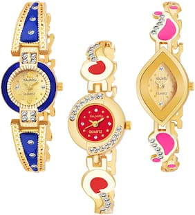 KAJARU BANGLE_1094 NEW ARRIVAL ATTRACTIVE PACK OF 3 WATCH FOR WOMEN