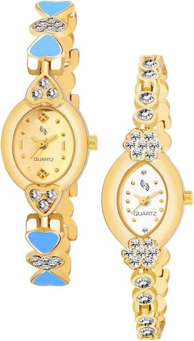 KAJARU BANGLE_908_912 Trendy New Arrival Watch Pack Of 2 For Women & Girls
