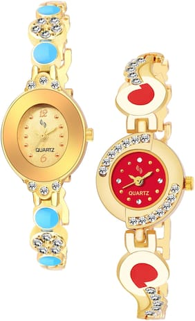 KAJARU BANGLE_907_905 Trendy New Arrival Watch Pack Of 2 For Women & Girls
