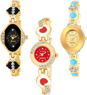 KAJARU BANGLE_1107 NEW ARRIVAL ATTRACTIVE PACK OF 3 WATCH FOR WOMEN