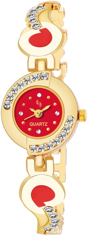 KAJARU BANGLE-905 Red DIAL BENGAL WATCH FOR WOMEN And Girls