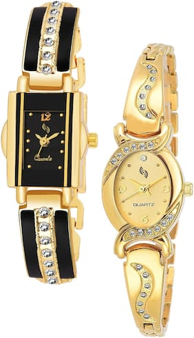 KAJARU BANGLE_911_901 Trendy New Arrival Watch Pack Of 2 For Women & Girls