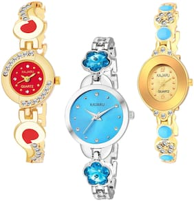 KAJARU BANGLE_1099 NEW ARRIVAL ATTRACTIVE PACK OF 3 WATCH FOR WOMEN
