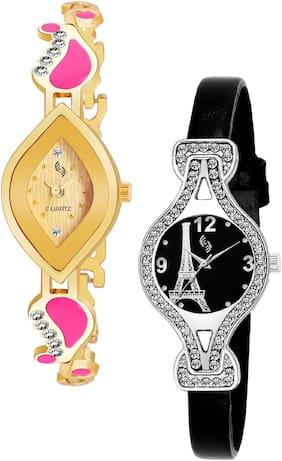 KAJARU BANGLE_906_937 Trendy New Arrival Watch Pack Of 2 For Women & Girls