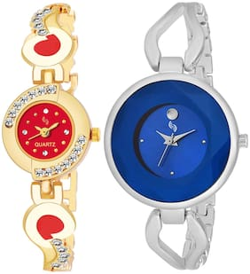 KAJARU BANGLE_905_803 New Arrival Pack Of 2 Watch For Girls & Women