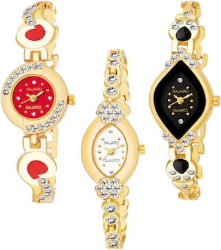 KAJARU BANGLE_1102 NEW ARRIVAL ATTRACTIVE PACK OF 3 WATCH FOR WOMEN