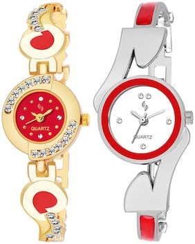 KAJARU BANGLE_905_806 New Arrival Pack Of 2 Watch For Girls & Women