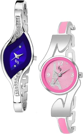 KAJARU BANGLE_922_936 Trendy New Arrival Watch Pack Of 2 For Women & Girls