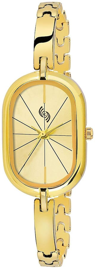 KAJARU BANGLE-915 GOLD DIAL DESIGN FANCY AND ATTRACTIVE RAGA WATCH FOR GIRLS AND WOMEN