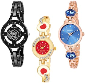 KAJARU BANGLE_1133 NEW ARRIVAL ATTRACTIVE PACK OF 3 WATCH FOR WOMEN