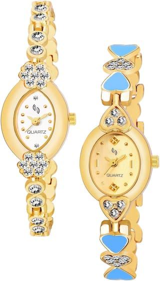 KAJARU BANGLE_912_908 Trendy New Arrival Watch Pack Of 2 For Women & Girls