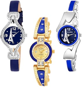 KAJARU BANGLE_1145 NEW ARRIVAL ATTRACTIVE PACK OF 3 WATCH FOR WOMEN
