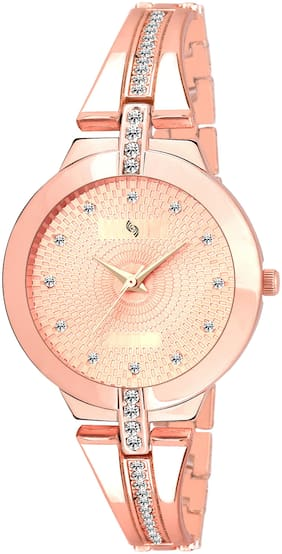 KAJARU BANGLE-764 ROSE GOLD DIAL DESIGNER BENGAL WATCH FOR WOMEN And Girls