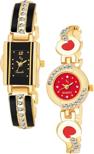 KAJARU BANGLE_911_905 Trendy New Arrival Watch Pack Of 2 For Women & Girls