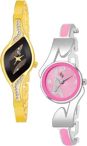 KAJARU BANGLE_935_936 Trendy New Arrival Watch Pack Of 2 For Women & Girls