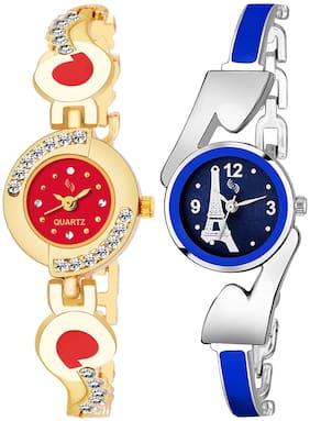 KAJARU BANGLE_905_810 New Arrival Pack Of 2 Watch For Girls & Women