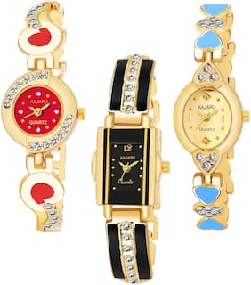 KAJARU BANGLE_1115 NEW ARRIVAL ATTRACTIVE PACK OF 3 WATCH FOR WOMEN