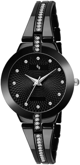 KAJARU BANGLE-765 BLACK DIAL DESIGNER BENGAL WATCH FOR WOMEN And Girls